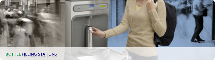 A range of bottle filling stations
