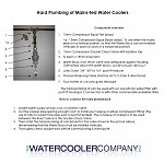 Water Cooler Installation Kit - Hard Plumbing