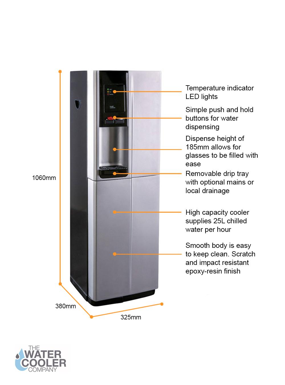 Borg & Overström B2 Direct Chill Floor Standing Water Cooler