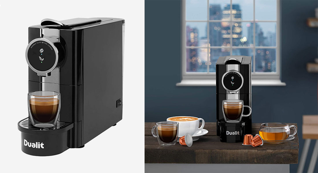 Dualit Coffee Machine and Cru Kafe Coffee Pods
