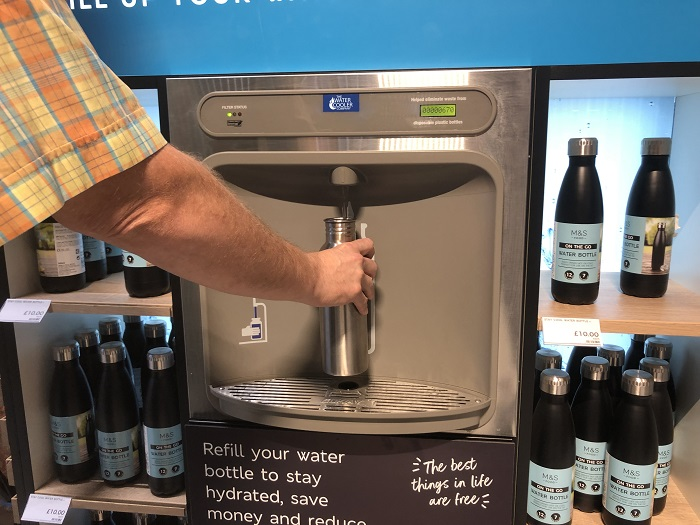 M&S water refill station