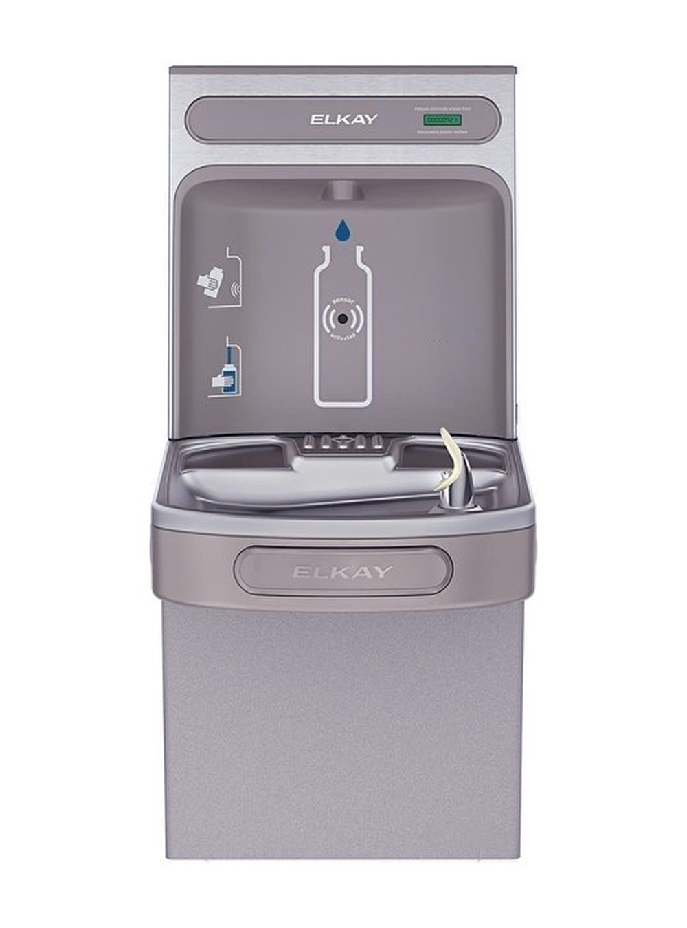 Elkay Lzs8wss2k Filtered Ezh2o Bottle Filling Station And