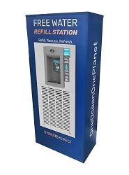 Hydrate Direct Refill Station Refrigerated Hands-free Sensor Bottle Filler with QUASAR UV Out
