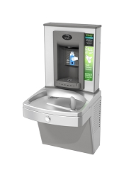 Oasis PVEBFY Hands-free Bottle Filler + Non-refrigerated Vandal-resistant VersaCooler with Counter
