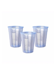 Plastic Cups, Blue Tint, Recyclable, 7oz, Box of 1000