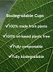 Biodegradable Cups, 6oz/150ml - Box of 1000 6