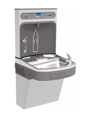 Elkay LZS8WSS2K Filtered EZH2O Bottle Filling Station and Drinking Fountain with Single Cooler