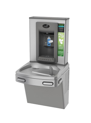 Oasis P8EBFY Hands-free Bottle Filler + Refrigerated VersaCooler with Counter