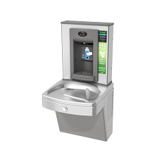 Oasis PV8EBFY Hands-free Bottle Filler + Refrigerated Vandal-resistant VersaCooler with Counter