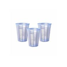 Plastic Cups, Blue Tint, 9oz, Box of 1000